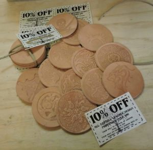 VIP Earthly Leather Coasters
